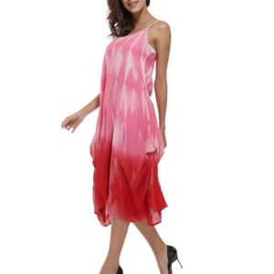 Orange Fashion Village Dresses - Tie Dye Dress